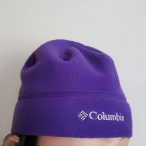 COLUMBIA Polar Fleece Hat Purple Size S